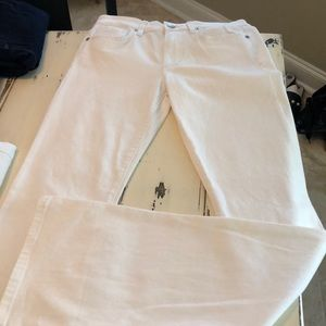 Joe's white jeans long flare icon size 27